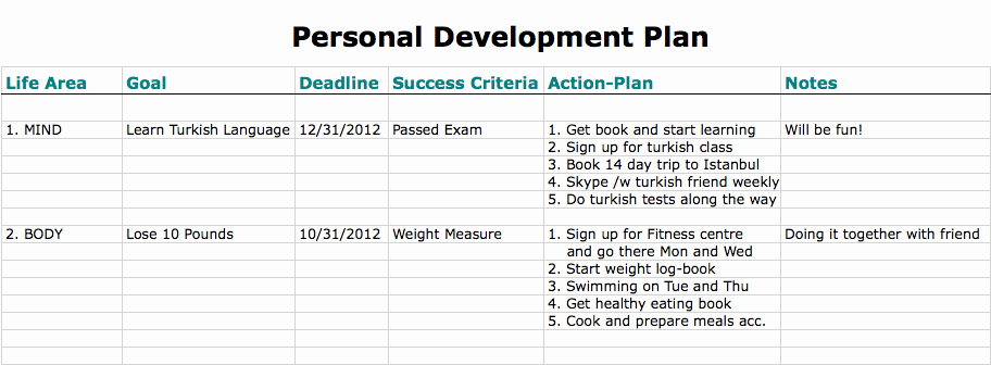 Individual Development Plan Examples Elegant Personal Development Plan the Definitive Guide