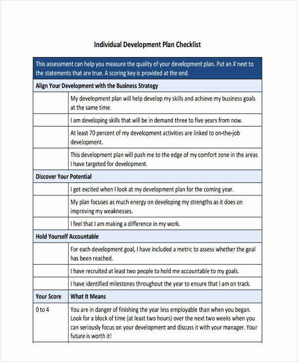 Individual Development Plan Examples New 64 Development Plan Examples & Samples In Pdf