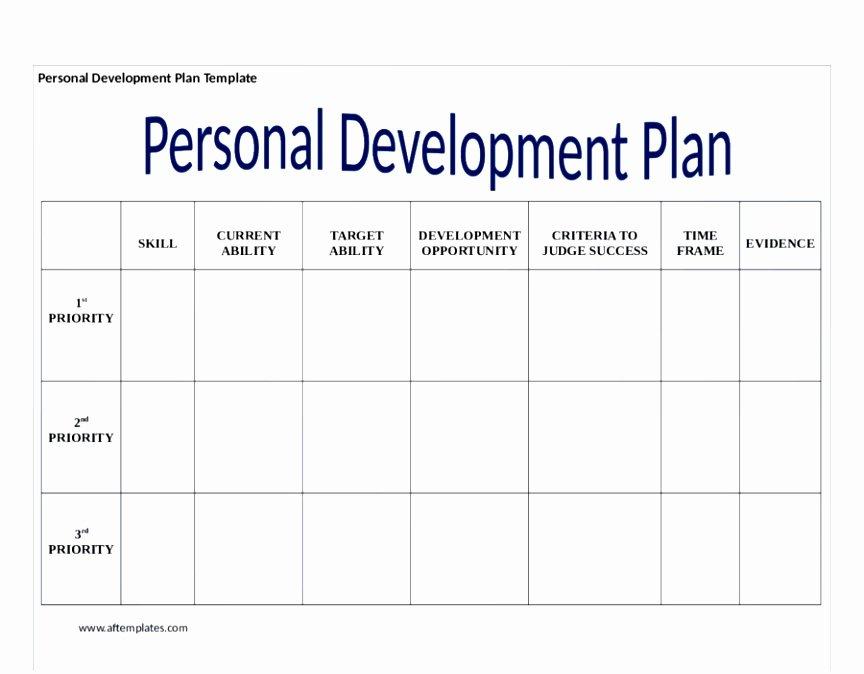 Individual Development Plan Template Elegant 6 Personal and Professional Development Plan Template