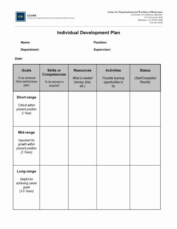 Individual Development Plan Template Fresh Image Result for Individual Career Development Plan