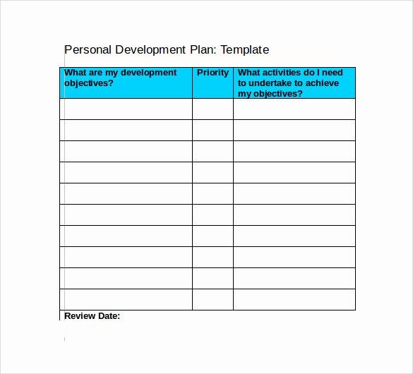 Individual Development Plan Template Fresh Sample Development Plan Template 11 Free Documents In