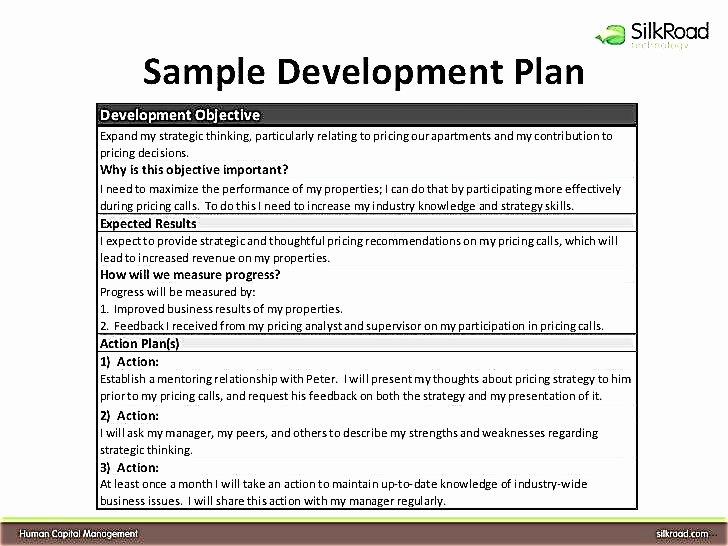 Individual Development Plan Template Inspirational Individual Development Plan for Employees