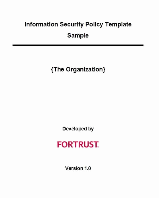Information Security Policies Templates Fresh 42 Information Security Policy Templates [cyber Security