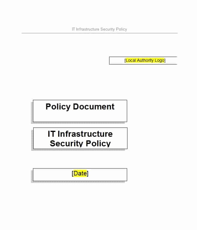 Information Security Policies Templates Lovely 42 Information Security Policy Templates [cyber Security