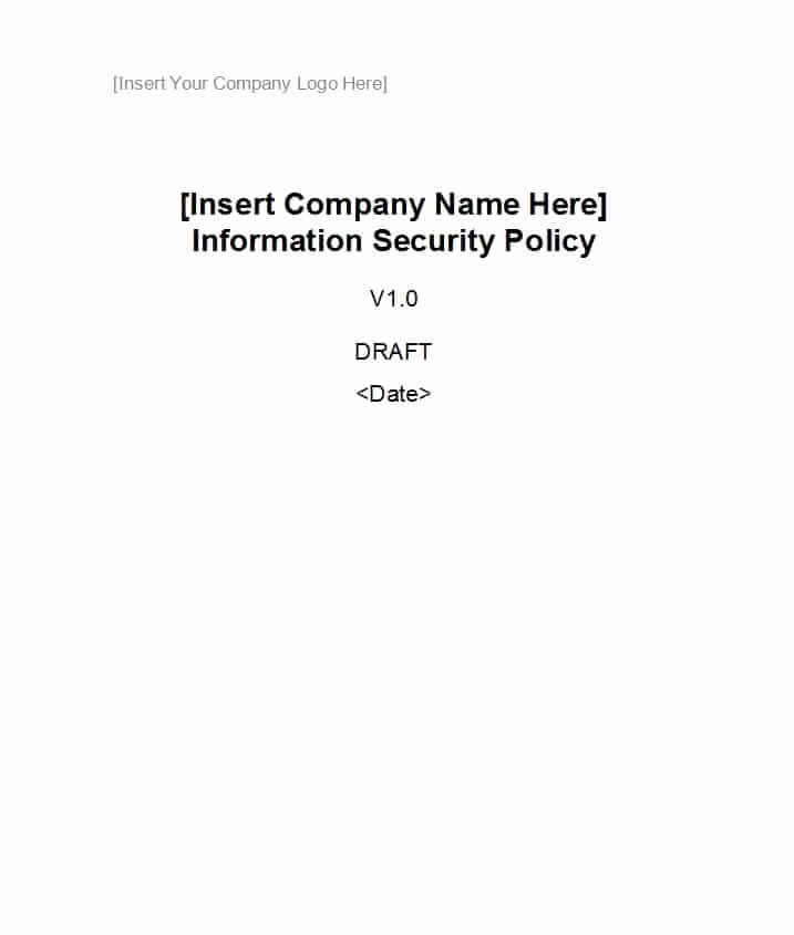 Information Security Policies Templates Luxury 42 Information Security Policy Templates [cyber Security