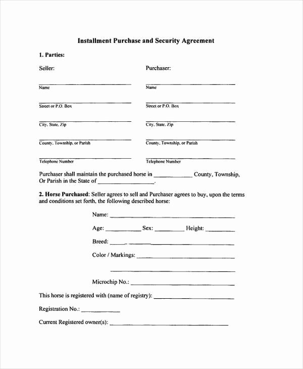 Installment Payment Agreement Template Elegant Free 8 Installment Agreement Sample forms In Sample