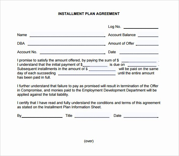 Installment Payment Agreement Template Elegant Payment Plan Agreement Template – 21 Free Word Pdf