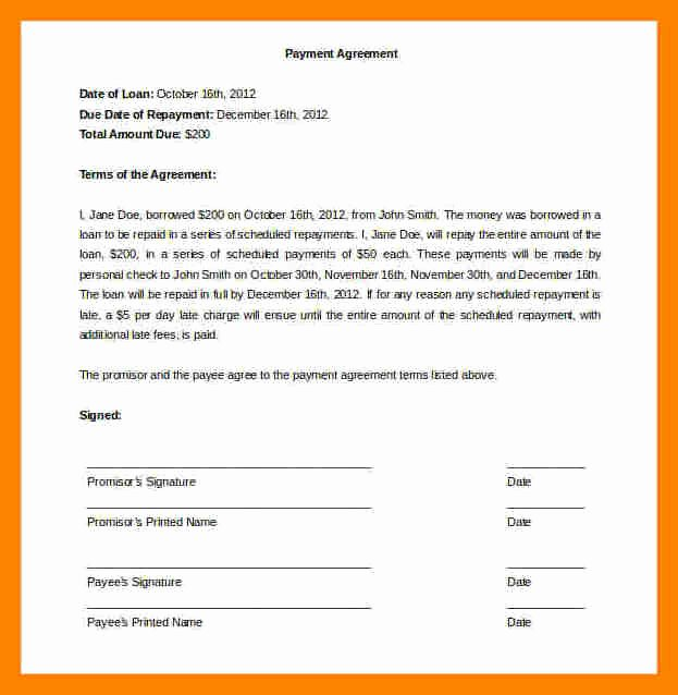 Installment Payment Agreement Template Luxury 12 Installment Payment Agreement Template