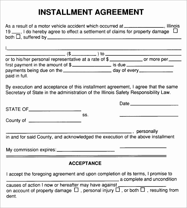 Installment Payment Agreement Template New Free 5 Sample Installment Agreement Templates In Pdf
