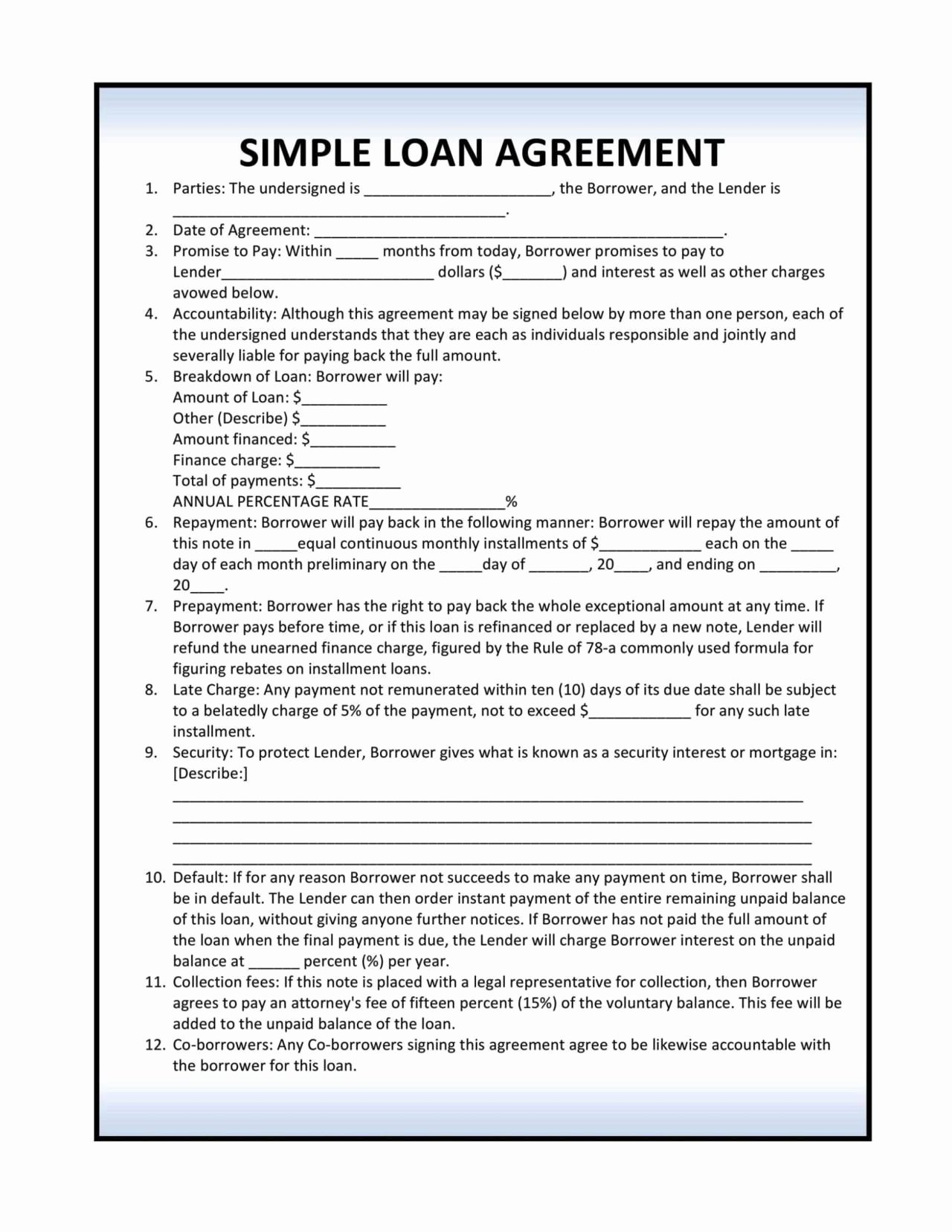 Installment Payment Agreement Template New Installment Loan Agreement Template Sampletemplatess