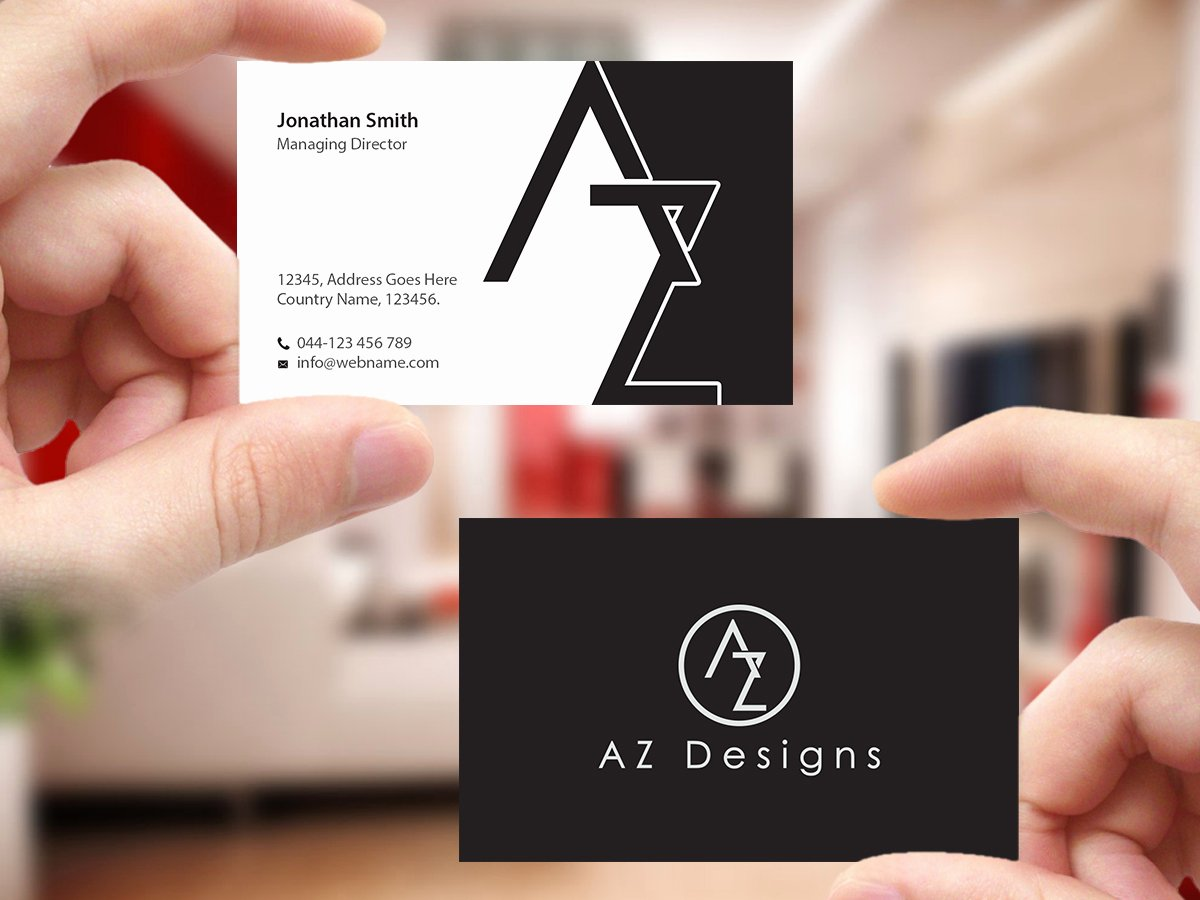 Interior Design Business Cards Beautiful Elegant Feminine Design Agency Business Card Design for