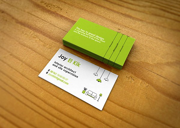 Interior Design Business Cards Elegant Interior Designer Business Card On Behance