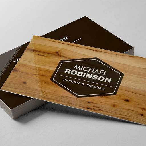 Interior Design Business Cards Elegant Modern Interior Design Wood Grain Texture Business Cards