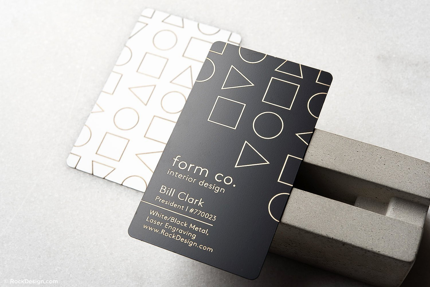 Interior Design Business Cards Fresh Simple and Clean Interior Design Quick Metal Business Card