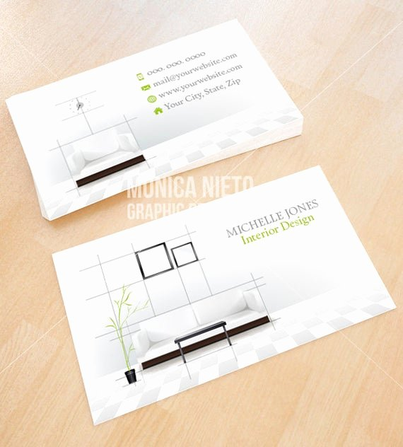 Interior Design Business Cards Luxury Custom Printable Interior Design Business Card Template