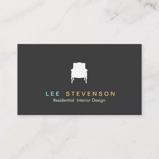 Interior Design Business Cards New French Chair Logo Interior Designer Business Card