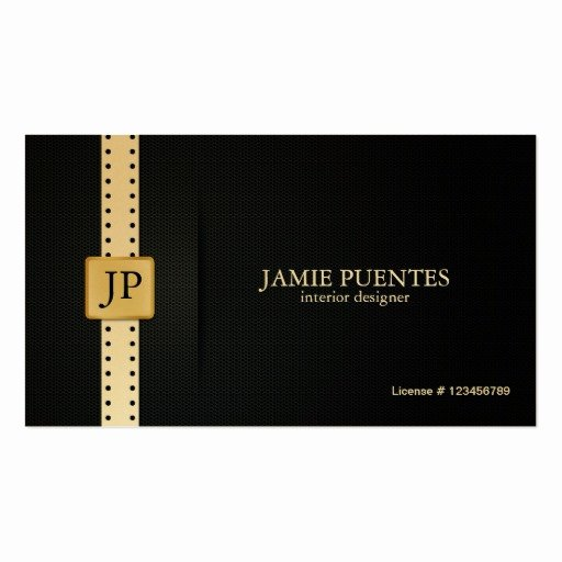 Interior Design Business Cards Unique Metallic Platinum Gold & Black Interior Design Double