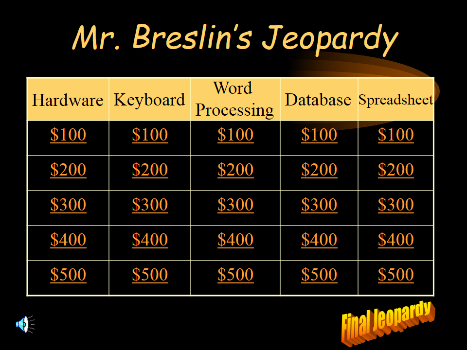 Jeopardy Powerpoint Template 5 Categories Awesome Jeopardy Game In Powerpoint with Jeopardy song Music Clip