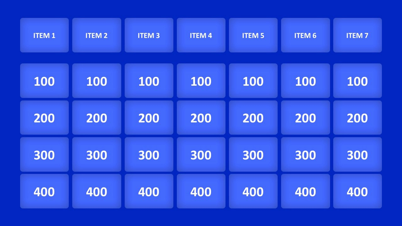 Jeopardy Powerpoint Template 5 Categories Awesome Jeopardy Game Powerpoint Templates