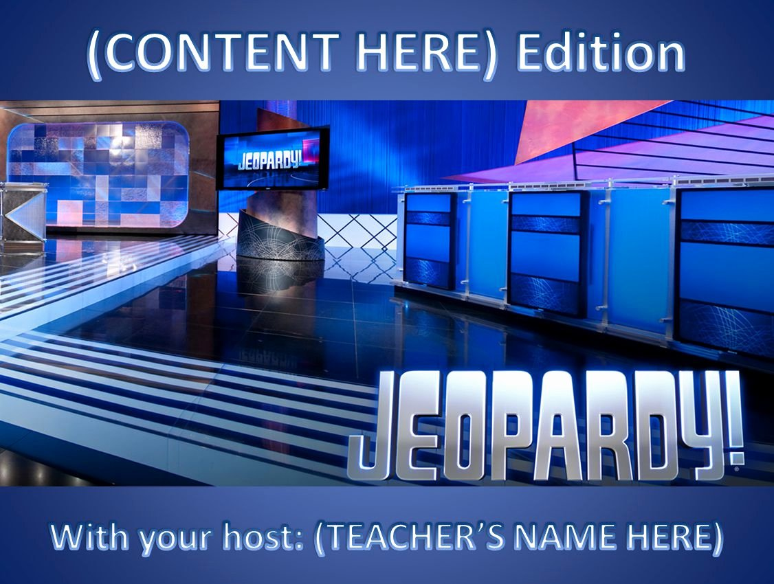 Jeopardy Powerpoint Template 5 Categories Best Of 11 Best Free Jeopardy Templates for the Classroom