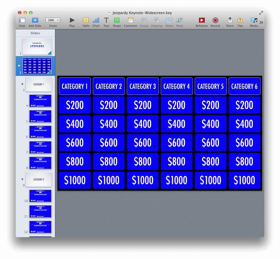 Jeopardy Powerpoint Template 5 Categories Best Of Keynote Jeopardy Template for Ipad and Widescreen