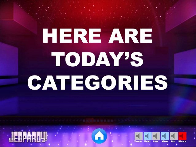 Jeopardy Powerpoint Template 5 Categories Elegant Jeopardy Powerpoint Template