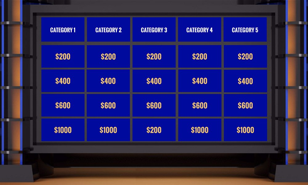 Jeopardy Powerpoint Template 5 Categories Elegant Jeopardy Templates
