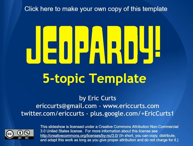 Jeopardy Powerpoint Template 5 Categories Lovely 11 Free Jeopardy Templates for the Classroom