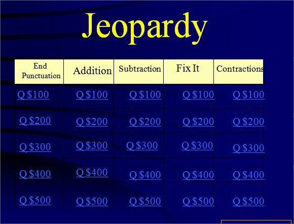 Jeopardy Powerpoint Template 5 Categories Lovely Jeopardy Powerpoint Template 8 Free Samples Examples