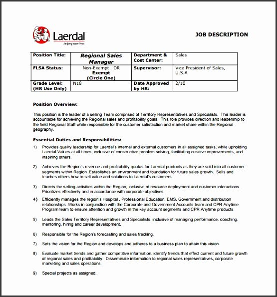 Job Description Template Word Beautiful 7 Job Description format Sampletemplatess Sampletemplatess