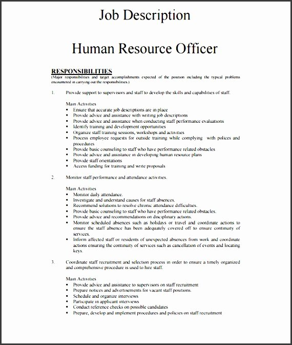 Job Description Template Word Lovely 7 Employee Job Description Template Sampletemplatess