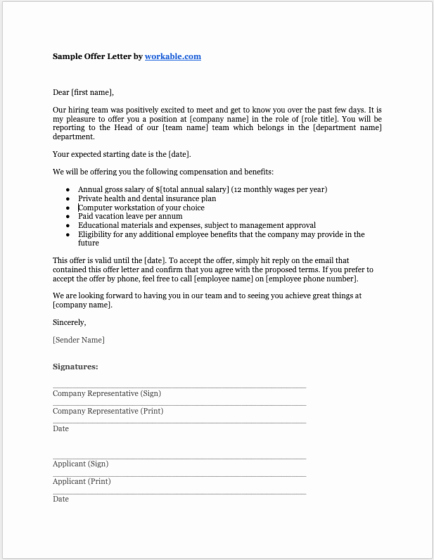 Job Offer Letter Example Inspirational 8 Job Offer Letter Templates for Every Circumstance Plus