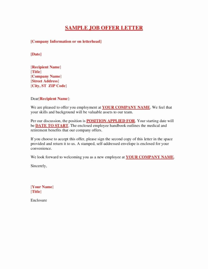 Job Offer Letter Example New the Great Importance Of Hiring the Right Employees
