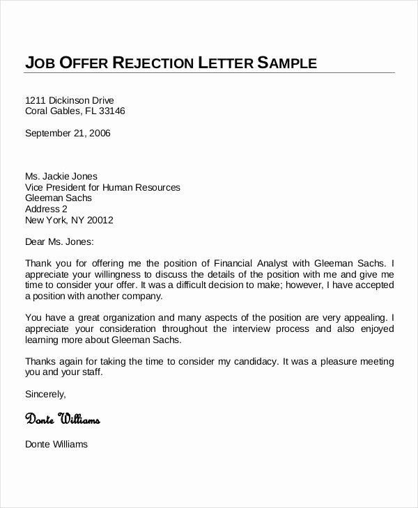 Job Offer Thank You Letter Best Of Sample Thank You Letters 60 Free Word Pdf Documents