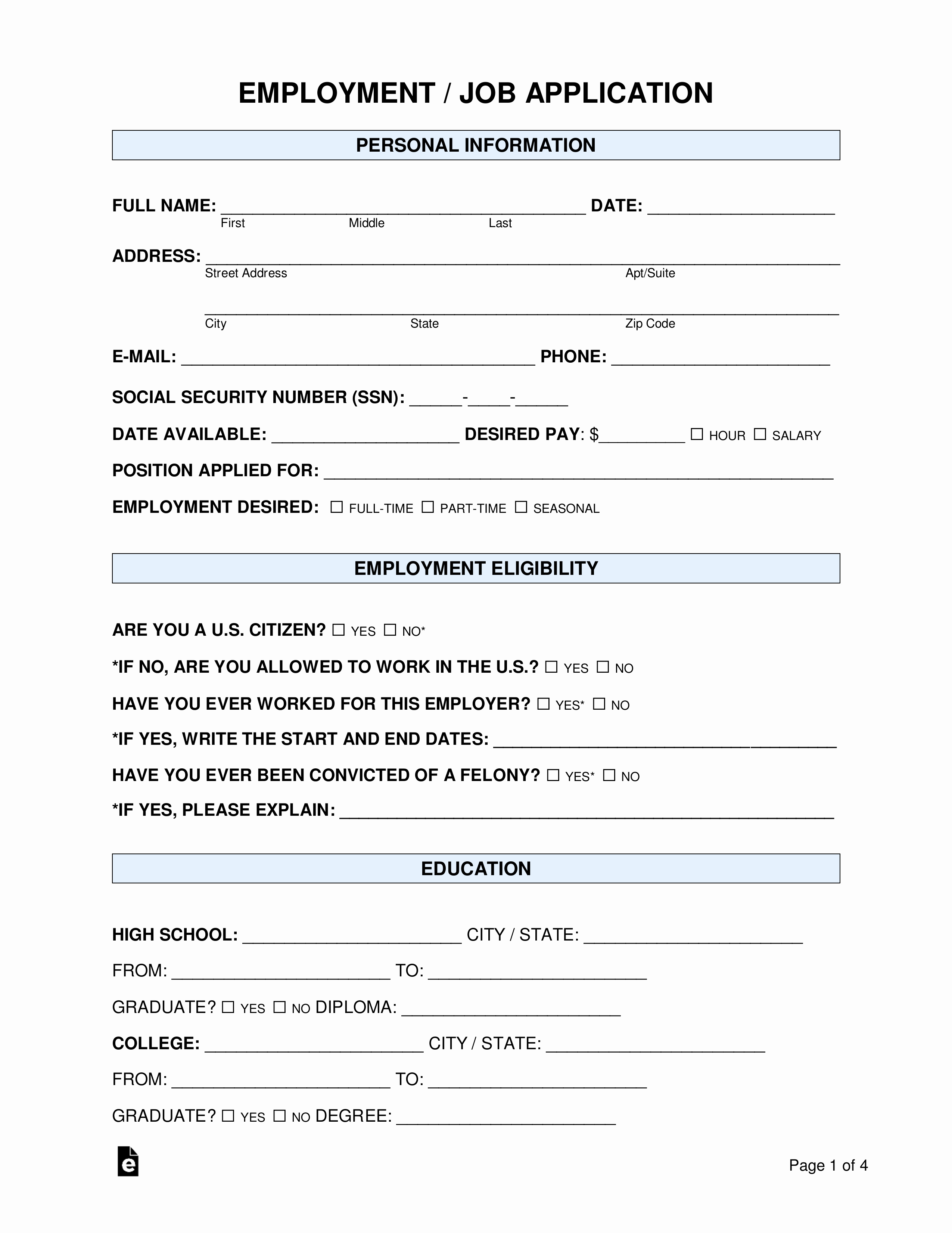 Jobs Application form Pdf Fresh Free Job Application form Standard Template Pdf