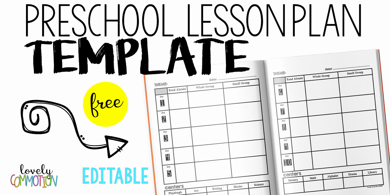 Kindergarten Lesson Plan Template Fresh Easy and Free Preschool Lesson Plan Template — Lovely