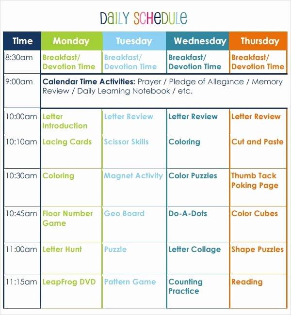 Kindergarten Lesson Plan Template Fresh Free 10 Sample Preschool Lesson Plan Templates In Google