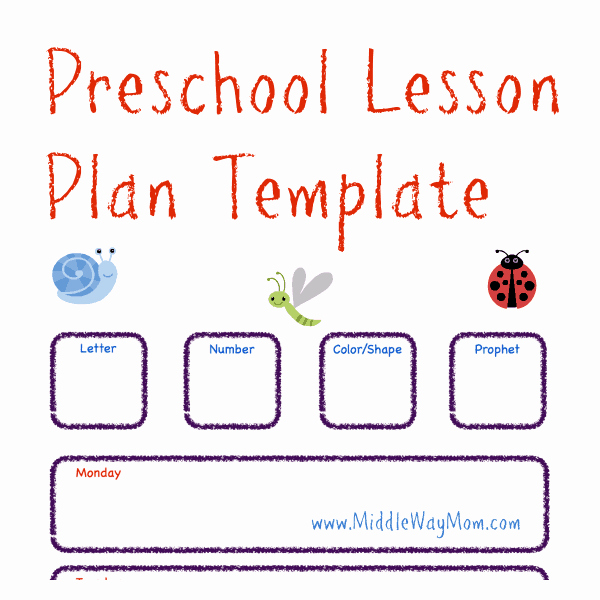 Kindergarten Lesson Plan Template Fresh Free Preschool Lesson Plan Template Life Of A Homeschool Mom