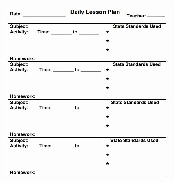 Kindergarten Lesson Plan Template Fresh Preschool Lesson Plan Template 7 Download Free