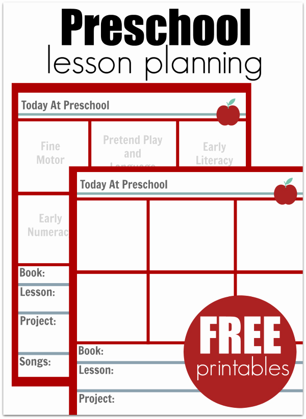 Kindergarten Lesson Plan Template Fresh Preschool Lesson Planning Template – Free Printables