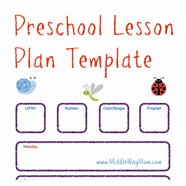 Kindergarten Lesson Plan Template Inspirational Preschool Lesson Plan Template