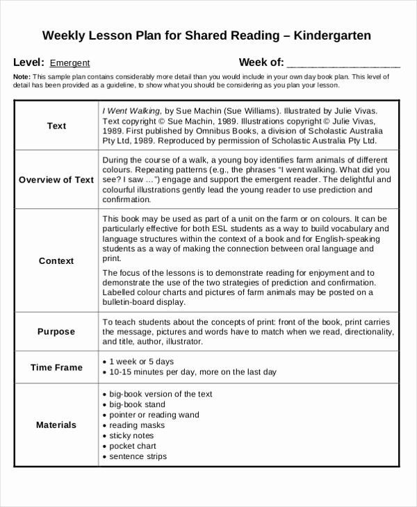 Kindergarten Lesson Plan Template Unique Teach Preschool Lesson Plans