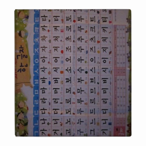 Korean Alphabet Letters Az Beautiful Binder Korean Alphabet Hangul