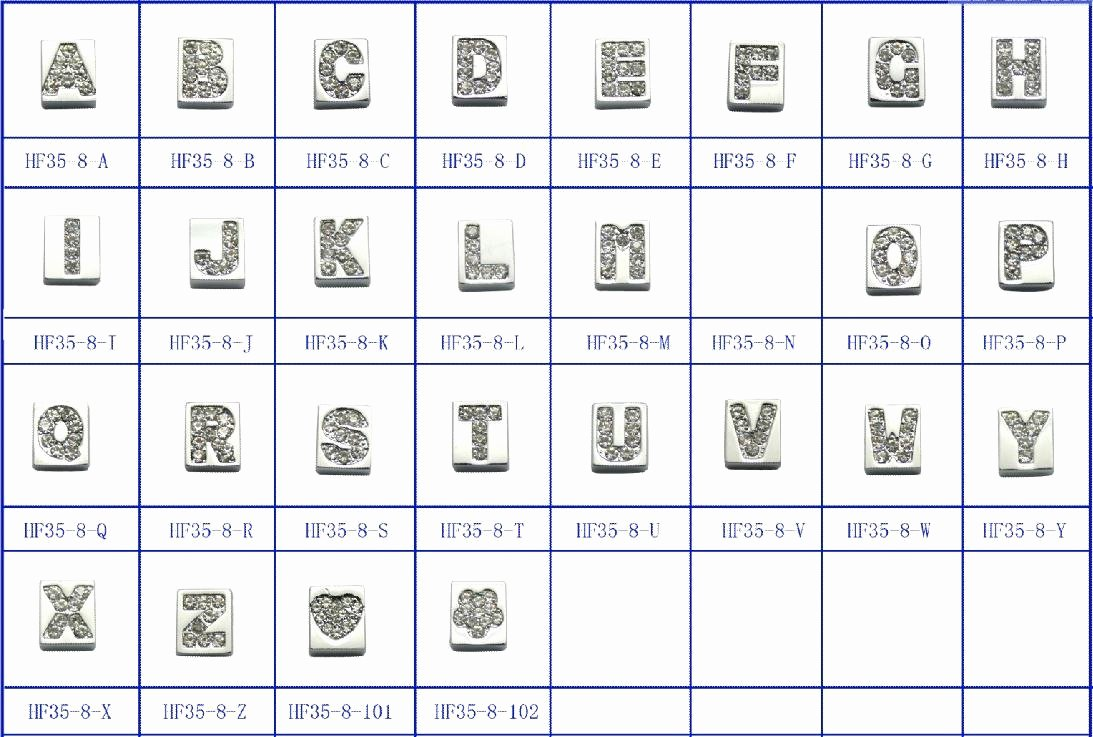 Korean Alphabet Letters Az Luxury Zinc Alloy Slide Letters A Z 130pcs In Jewelry Findings