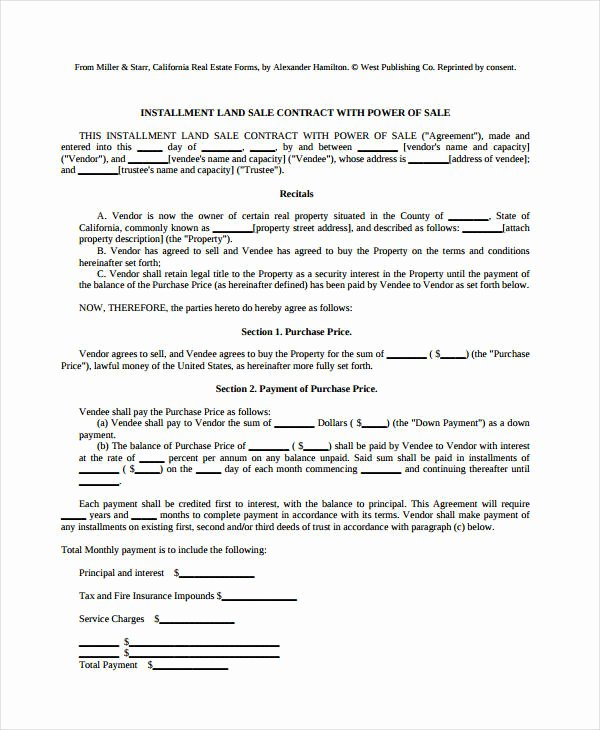 Land Purchase Agreement form Pdf Beautiful 8 Land Contract forms Free Sample Example format