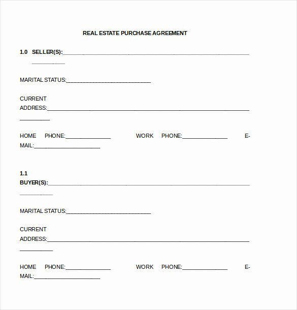 Land Purchase Agreement form Pdf Beautiful Simple Land Purchase Agreement form