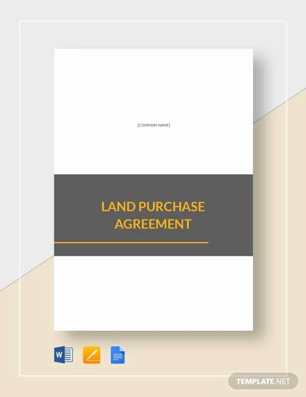 Land Purchase Agreement form Pdf Best Of 8 Land Purchase Agreement Sample Free Word Pdf format