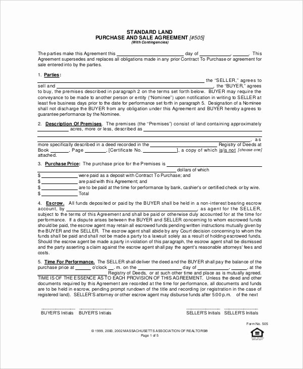Land Purchase Agreement form Pdf Elegant 10 Sample Purchase Agreement forms Word Pdf Pages