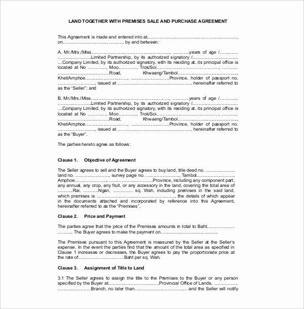 Land Purchase Agreement form Pdf Elegant 23 Sales Contract Templates Word Pdf Google Docs