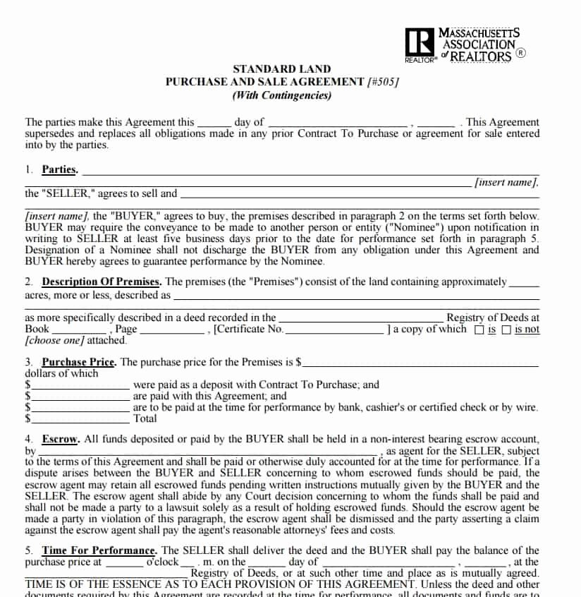 Land Purchase Agreement form Pdf Elegant Free Contract Templates Word Pdf Agreements